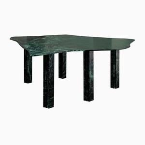 Green Sculptural Marble Table by Lorenzo Bini