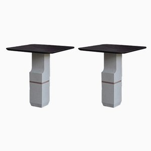 Sireul Stone Side Tables by Frederic Saulou, Set of 2