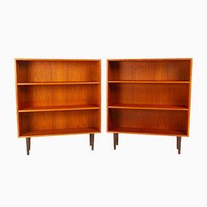 Danish Teak Bookcases, 1960s, Set of 2