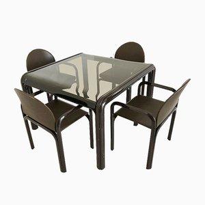 Juego de mesa y sillas de comedor de Gae Aulenti para Knoll Inc. / Knoll International, años 70