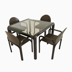 Tavolo da pranzo e sedie di Gae Aulenti per Knoll Inc. / Knoll International, anni '70
