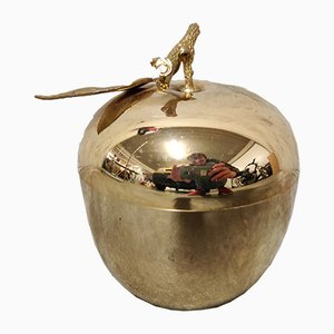 Vintage Brass Apple Ice Bucket by Hans Turnwald for Freddotherm, 1970s