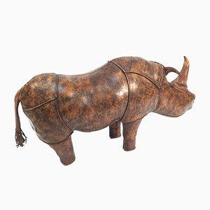 Großes Vintage Nashorn aus Leder von Dimitri Omersa für Liberty