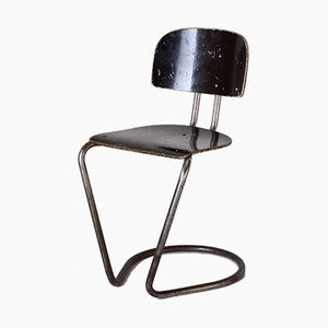 Verchromter Beistellstuhl von Theo de Wit für EMS Overschie, 1930er