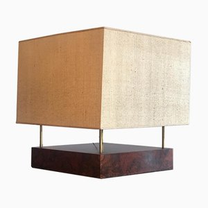 Walnut and Brass Table Lamp, 1970s