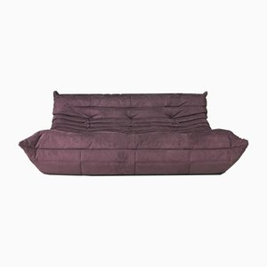 Purple 3-Seater Togo Sofa by Michel Ducaroy for Ligne Roset, 1960s