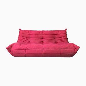 3-Sitzer Togo Sofa in Pink von Michel Ducaroy für Ligne Roset, 1960er
