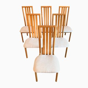 Maple Dining Chairs, 1970s, Set of 6