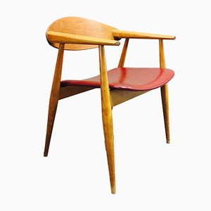 Silla de escritorio grande, años 50