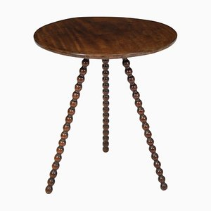 Antique English Mahogany Tripod Side Table
