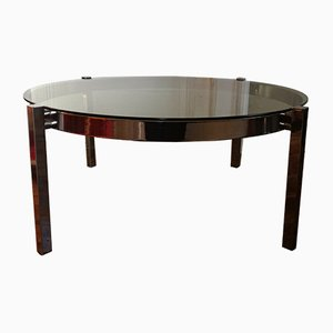 French Smoked Glass Coffee Table, 1970s