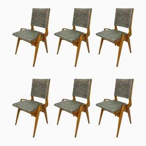 Esszimmerstühle von PRE Maurice, 1950er, 6er Set