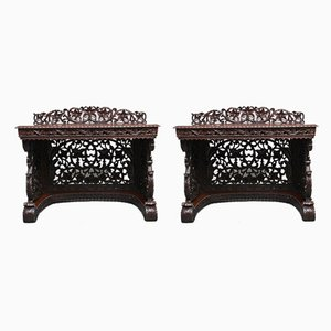 19th Century Carved Console Tables, Set of 2