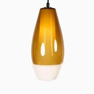Lámpara colgante de vidrio de Svend Aage Holm Sørensen para Holm Sørensen & Co, años 60
