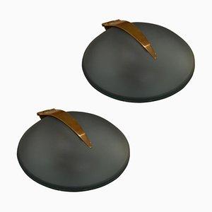 Modell Shell Wandleuchten von Max Ingrand für Fontana Arte, 1960er, 2er Set