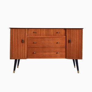 Brass and Teak Sideboard, 1960s