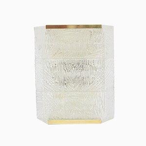 Mid-Century Austrian Glass and Brass Sconce form J. T. Kalmar, 1960s