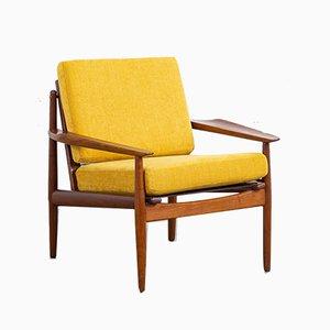 Dänischer Mid-Century Sessel mit Gestell aus Teak von Arne Vodder für Glostrup, 1960er
