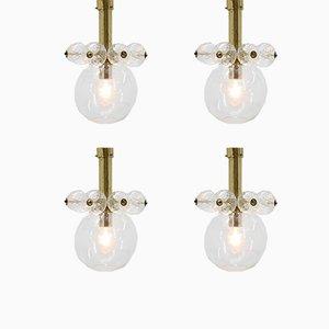 Lampes à Suspension Mid-Century de Kamenický Šenov, 1970s, Set de 4