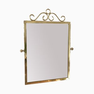 Brass Makeup Mirror, 1950s
