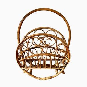 Revistero de bambú, años 70