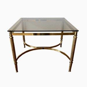 Tavolino da caffè in ottone dorato, anni '70