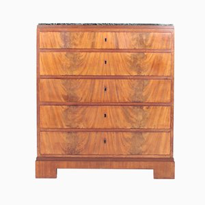 Danish Mahogany and Marble Dresser by Frederik Hansen, 1930s