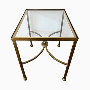 Mid-Century Golden Side Table, 1960s
