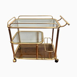 Italian Golden Brass Trolley, 1970s