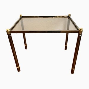 Golden Brass Side Table, 1970s
