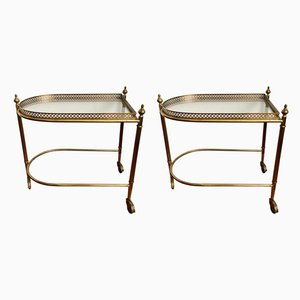 Neoclassical Brass Trolleys, 1950s, Set of 2