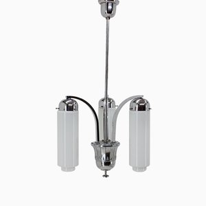 Bauhaus Chrome Ceiling Lamp, 1930s
