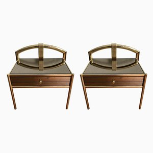 Golden Nightstands, 1970s, Set of 2