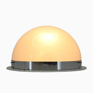 Lampada da soffitto Bauhaus in metallo cromato di ESC Zukov, anni '40