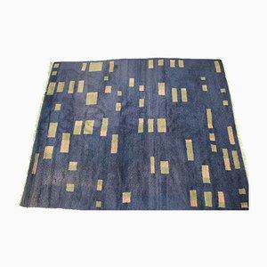 Tappeto geometrico in lana, anni '50