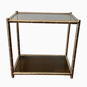 Mid-Century Golden Side Table