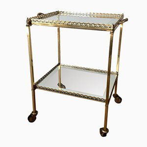 Neoclassical French Brass Trolley, 1960s