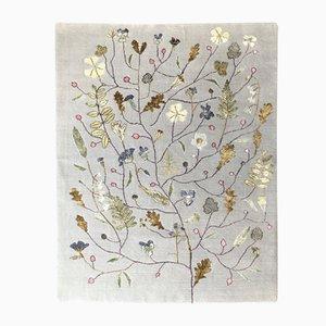 Alfombra Midsummer Bloom de seda de bambú y lana de Nueva Zelanda de Mimmi Blomqvist para Junior Monarch