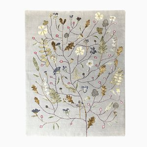 Bamboo Silk and New Zealand Wool Midsummer Bloom Carpet by Mimmi Blomqvist for Junior Monarch