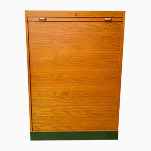 Large Mid-Century Tambour Cabinet