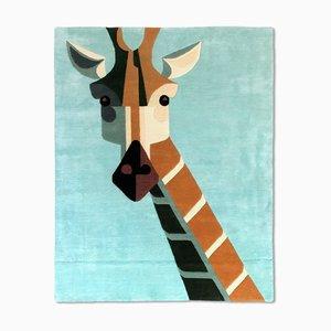Dandy Giraffe Teppich Teppicha aus neuseeländischer Wolle & chinesischer Seidenmischung von Josh Brill für Junior Monarch