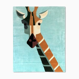 New Zealand Wool and Chinese Silk Blend Dandy Giraffe Carpet by Josh Brill for Junior Monarch