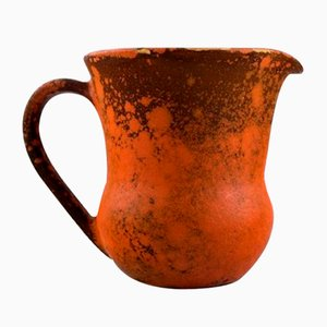 Orange Uranium Glazed Stoneware Jug from Kähler, 1930s