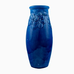 Glazed Stoneware Vase by Signe Steffensen for Kähler, 1920s