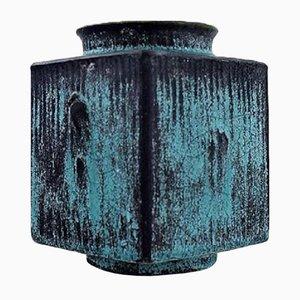 Vaso vintage in gres smaltato di Svend Hammershøi per Kähler, Danimarca