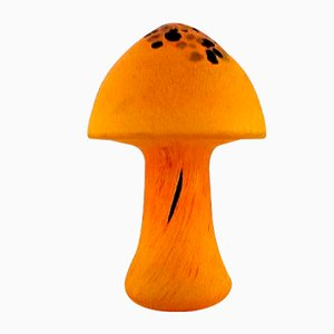 Art Glass Mushroom Sculptures by Monica Backström for Kosta Boda, 1980s, Set of 2