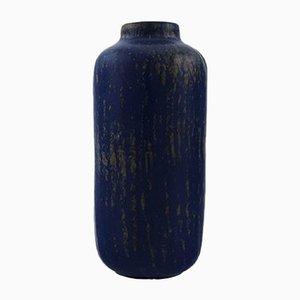 Glas Rubin Vase aus Steingut von Gunnar Nylund für Rörstrand, 1960er