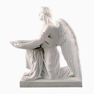 Antike Taufengel Skulptur von Royal Copenhagen