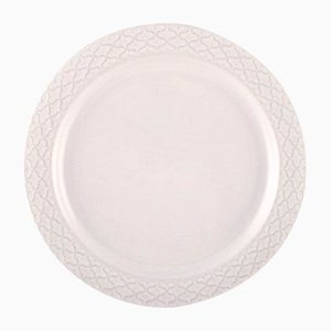 White Model Cordial Palet Dinner Plate by Jens Quistgaard for Bing & Grondahl, 1960s, Set of 14