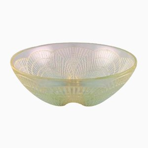 Vintage Art Glass Model Coquilles Bowl by René Lalique